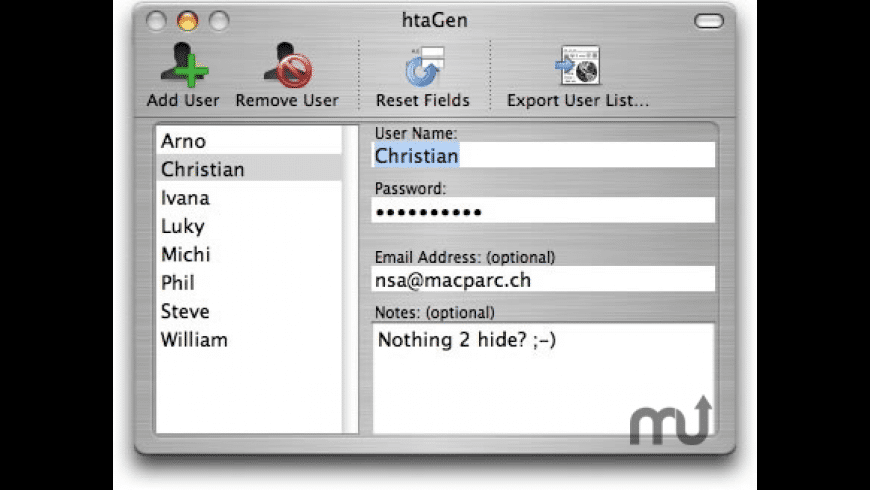 htaGen for Mac - review, screenshots