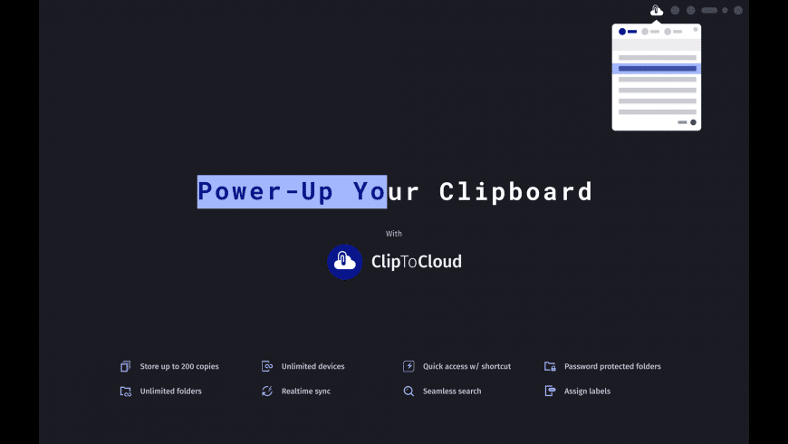 ClipToCloud for Mac - review, screenshots