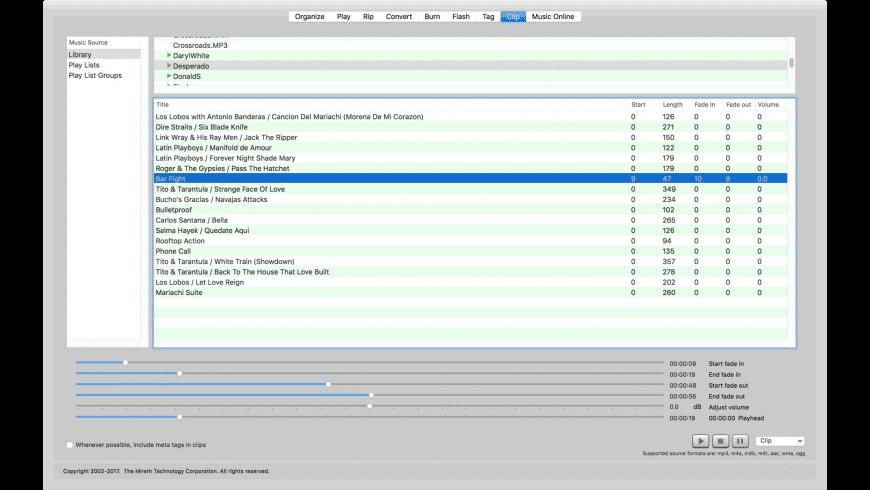 mirethMusic for Mac - review, screenshots