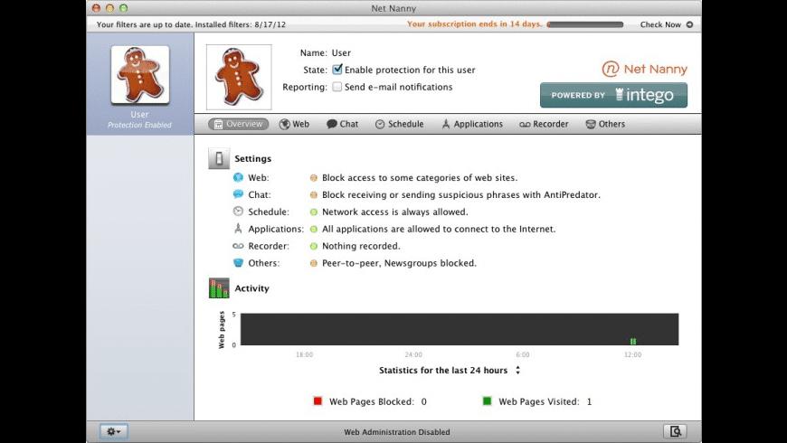 Net Nanny for Mac - review, screenshots