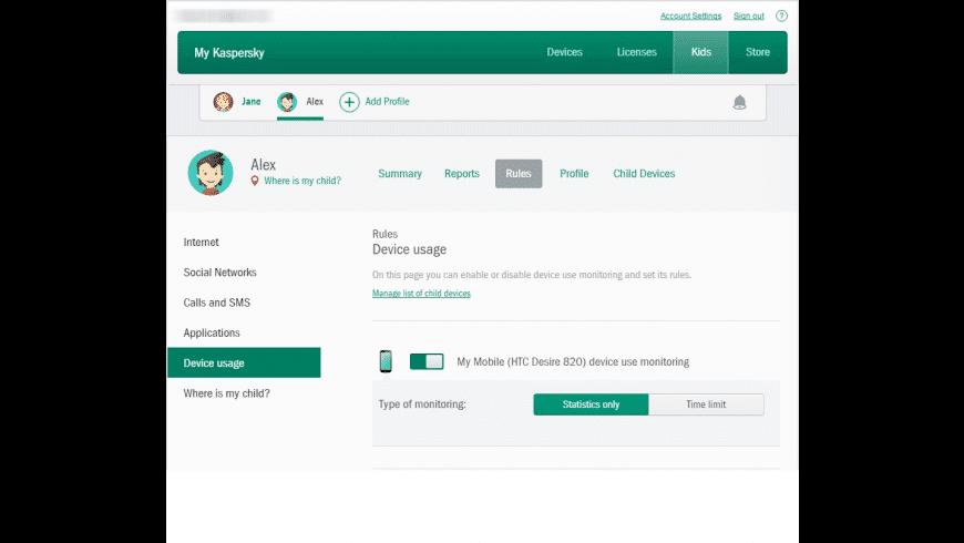 Kaspersky Safe Kids for Mac - review, screenshots