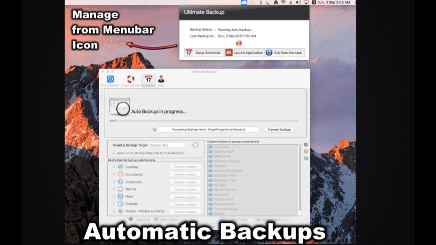 Ultimate Backup for Mac - review, screenshots