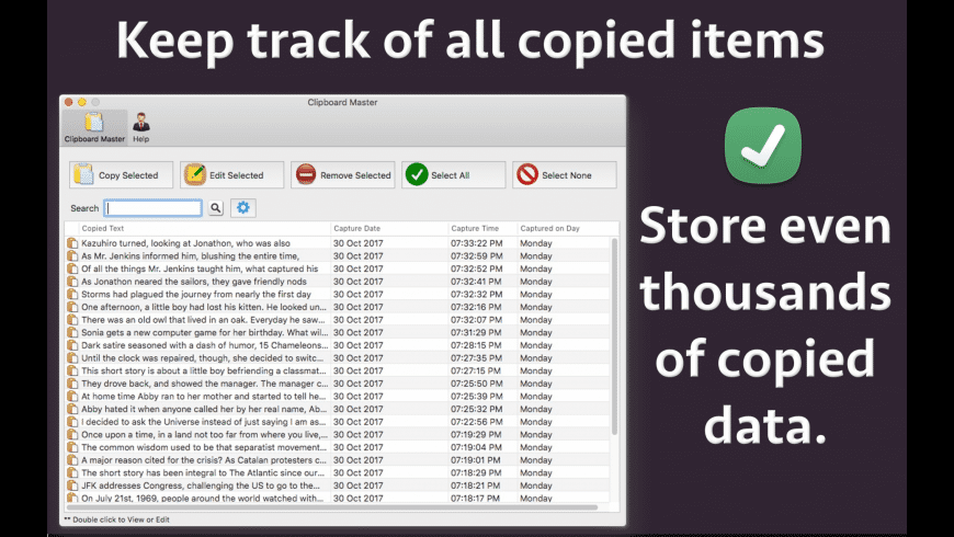 Clipboard Master for Mac - review, screenshots