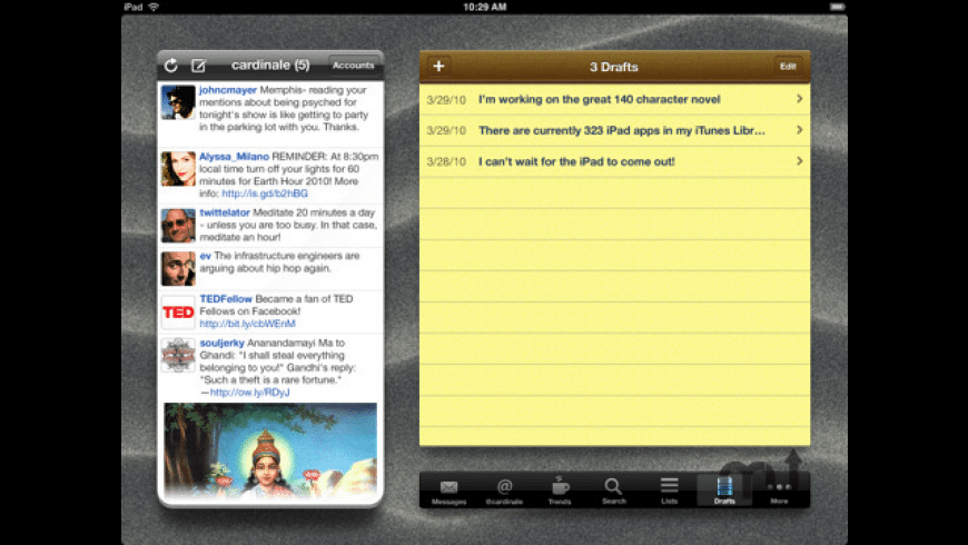 Twittelator for iPad for Mac - review, screenshots