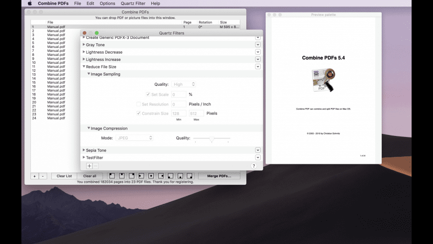 Combine PDFs for Mac - review, screenshots