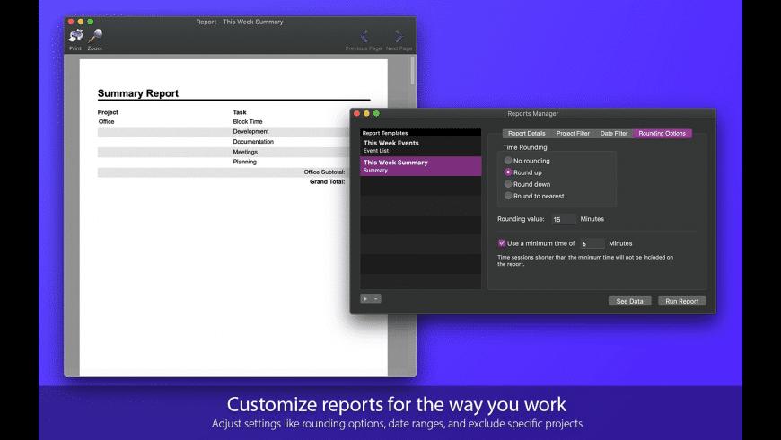 Task Timer for Mac - review, screenshots