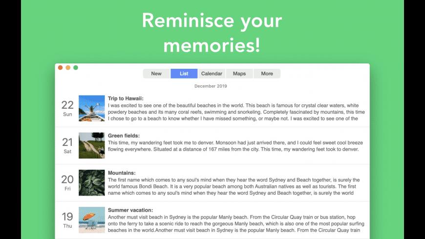 Reminisce for Mac - review, screenshots