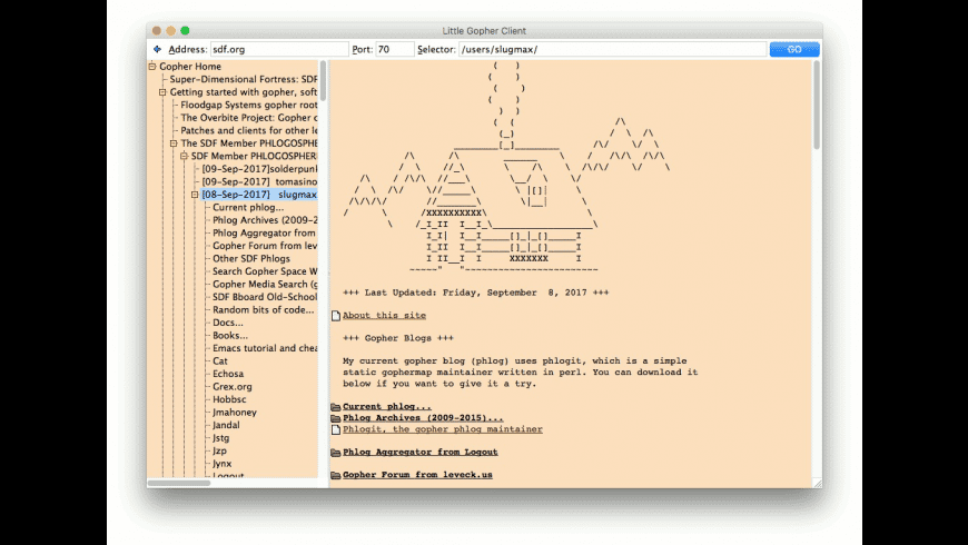 Little Gopher Client for Mac - review, screenshots