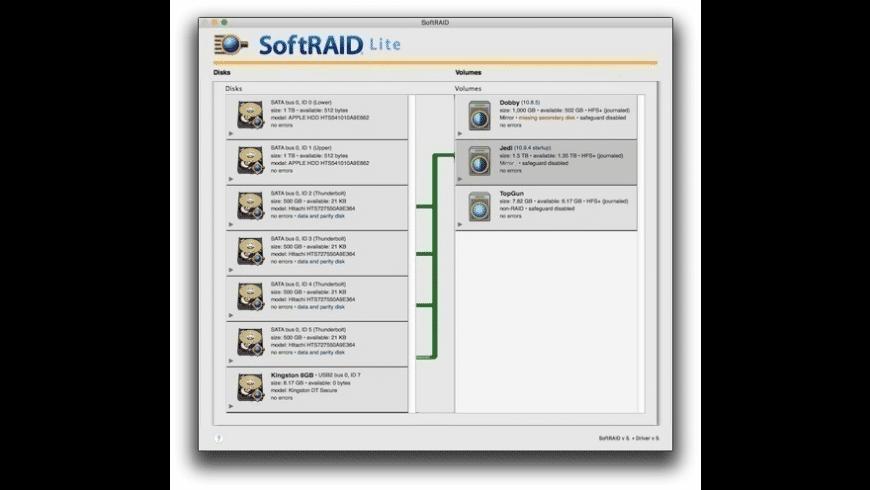 SoftRAID Lite for Mac - review, screenshots