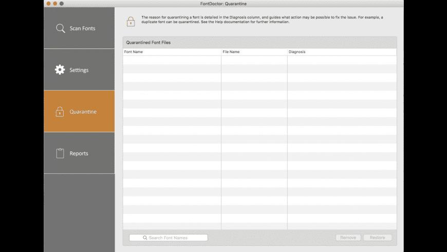 FontDoctor for Mac - review, screenshots
