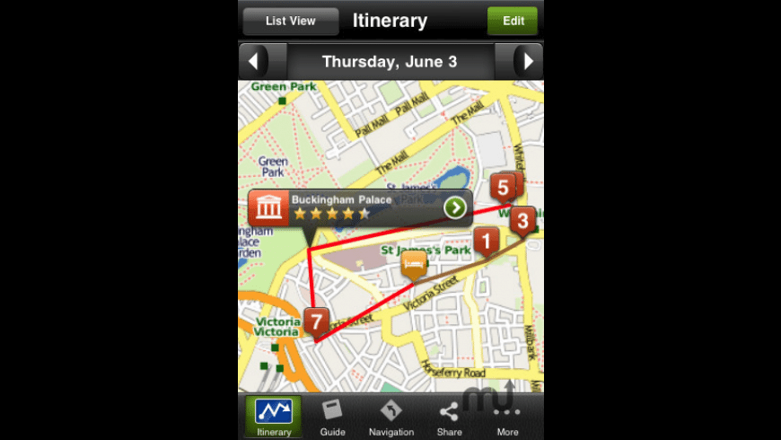 London Travel Guide - mTrip for Mac - review, screenshots