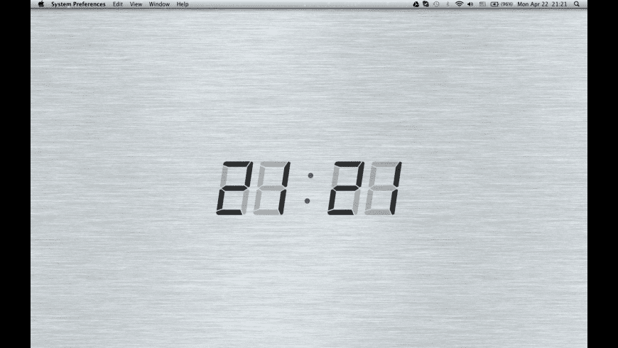 Digital Desktop Clock for Mac - review, screenshots