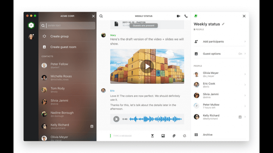 Wire for Mac - review, screenshots