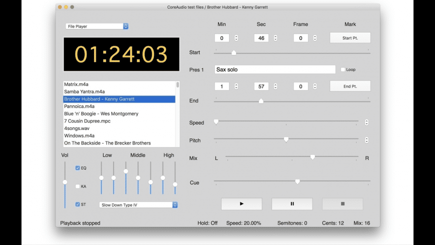 Amazing Slow Downer for Mac - review, screenshots