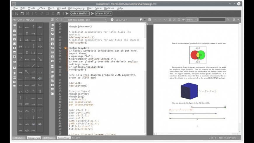 TeXMaker for Mac - review, screenshots