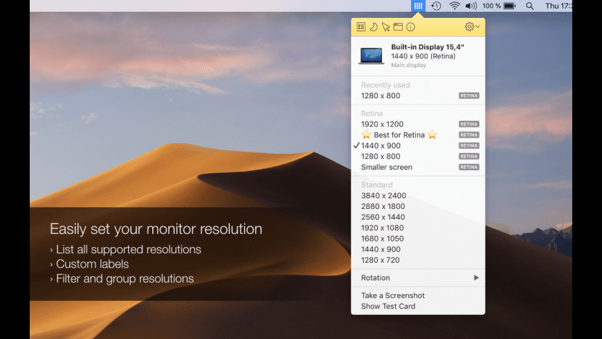 Displays for Mac - review, screenshots