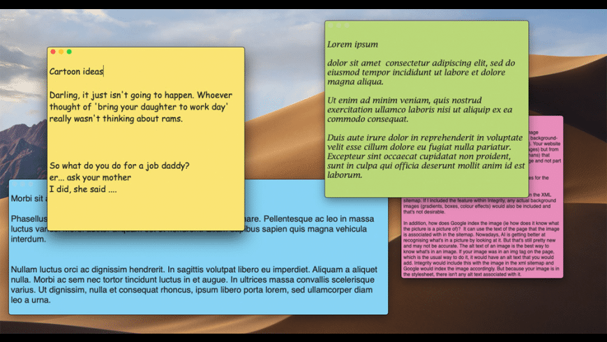 Plain Text Stickies for Mac - review, screenshots