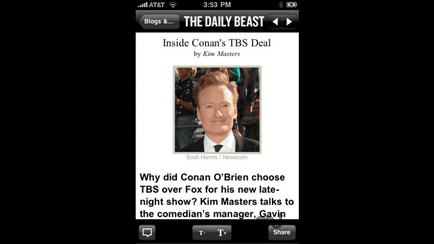 The Daily Beast for Mac - review, screenshots