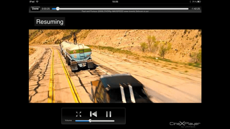 CineXPlayer for Mac - review, screenshots