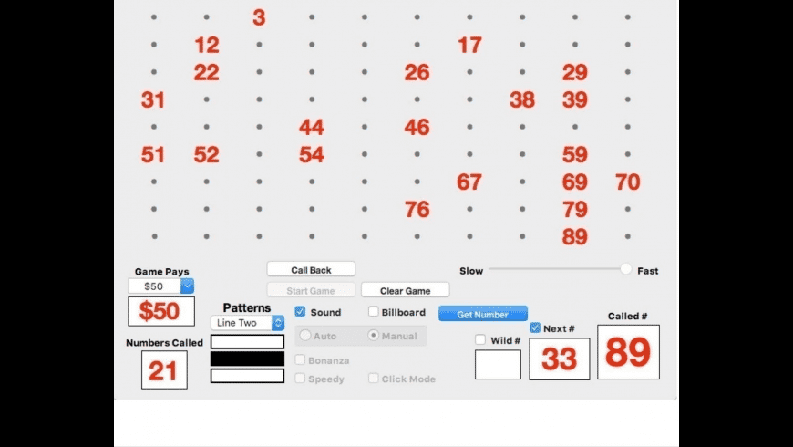 Bingo Caller 90 for Mac - review, screenshots