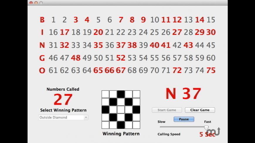 Bingo Caller for Mac - review, screenshots