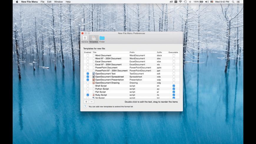New File Menu for Mac - review, screenshots