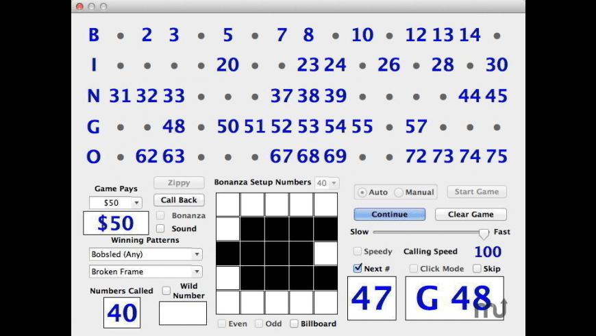 Bingo Caller Pro for Mac - review, screenshots