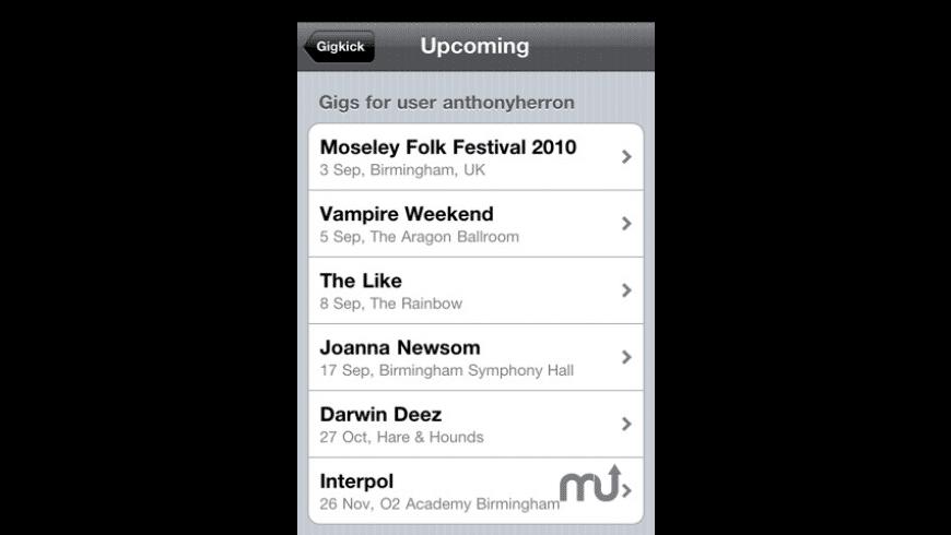 Gigkick for Mac - review, screenshots