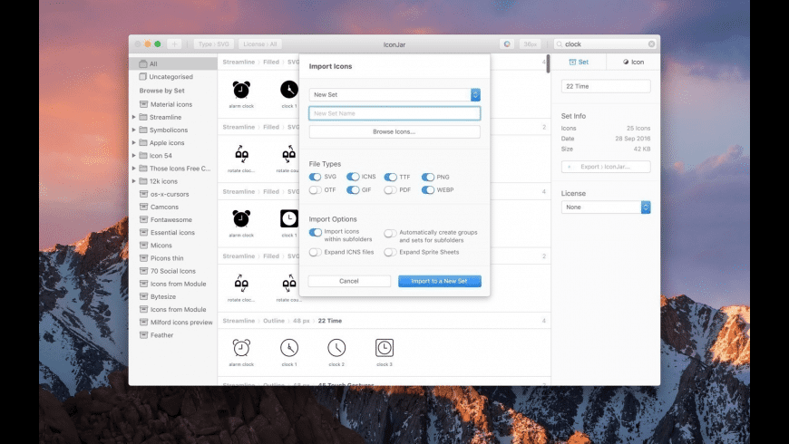 IconJar for Mac - review, screenshots