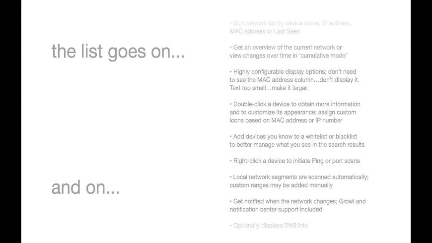 IP Scanner for Mac - review, screenshots