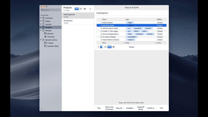 DataOrganizer for Mac - review, screenshots