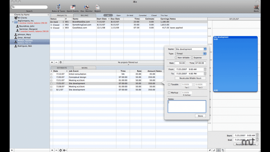 iBiz for Mac - review, screenshots