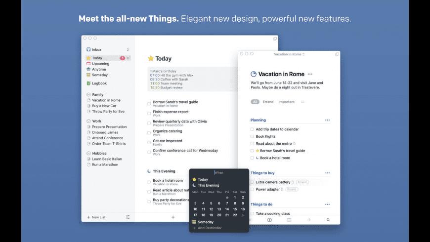 Things for Mac - review, screenshots