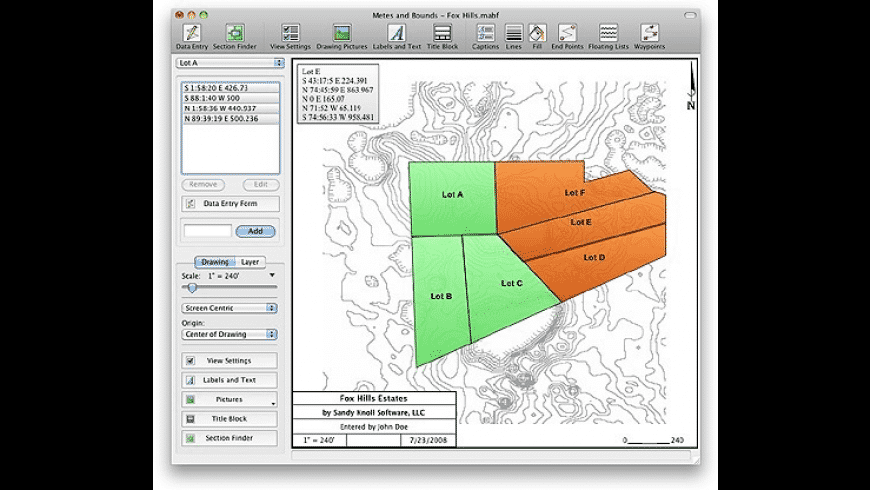 Metes and Bounds for Mac - review, screenshots