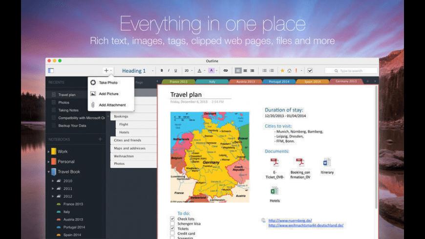 Outline for Mac - review, screenshots