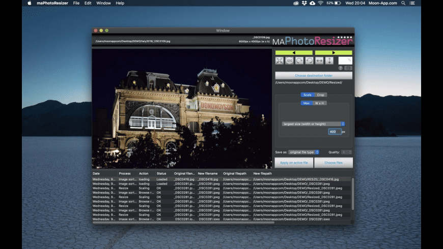 maPhotoResizer for Mac - review, screenshots