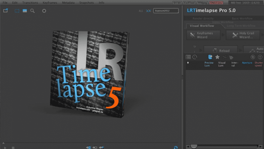 LRTimelapse for Mac - review, screenshots