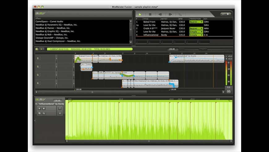 MixMeister Studio for Mac - review, screenshots