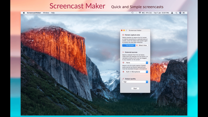 Screencast Maker for Mac - review, screenshots