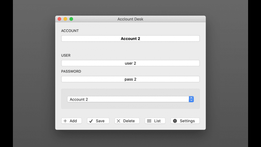 Acclount Desk for Mac - review, screenshots