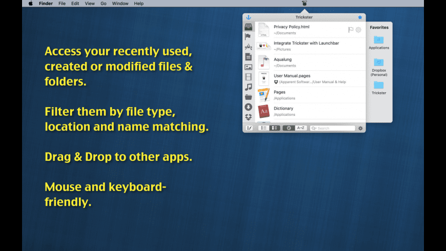 Trickster for Mac - review, screenshots