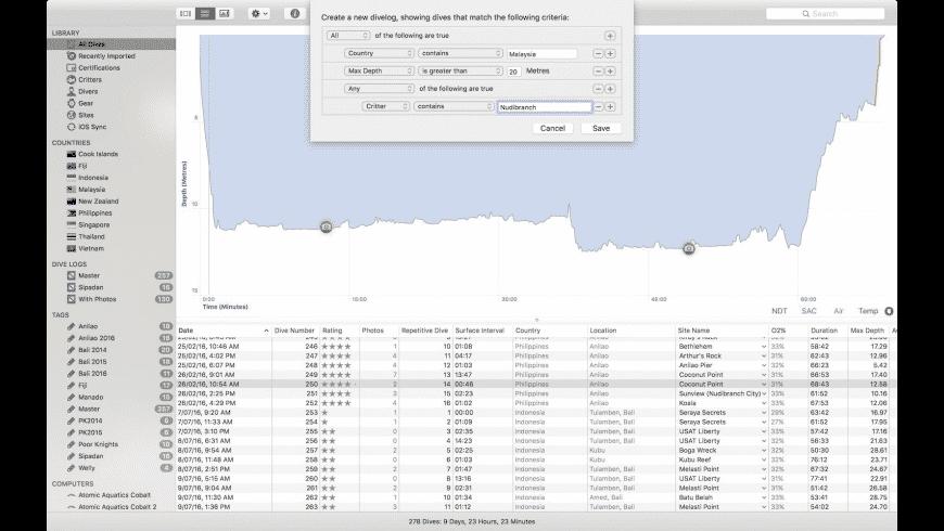 MacDive for Mac - review, screenshots