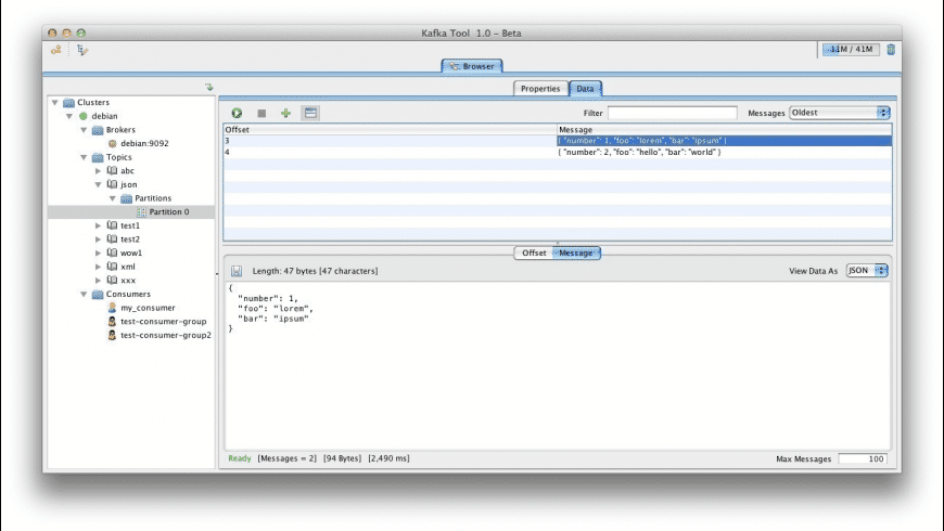 Kafka Tool for Mac - review, screenshots