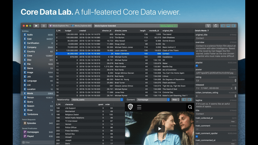 Core Data Lab for Mac - review, screenshots