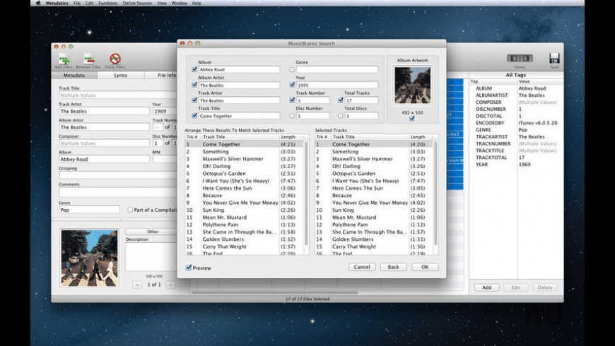 Metadatics for Mac - review, screenshots