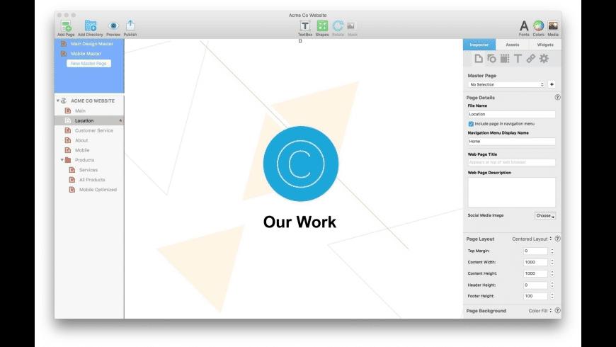 EverWeb for Mac - review, screenshots
