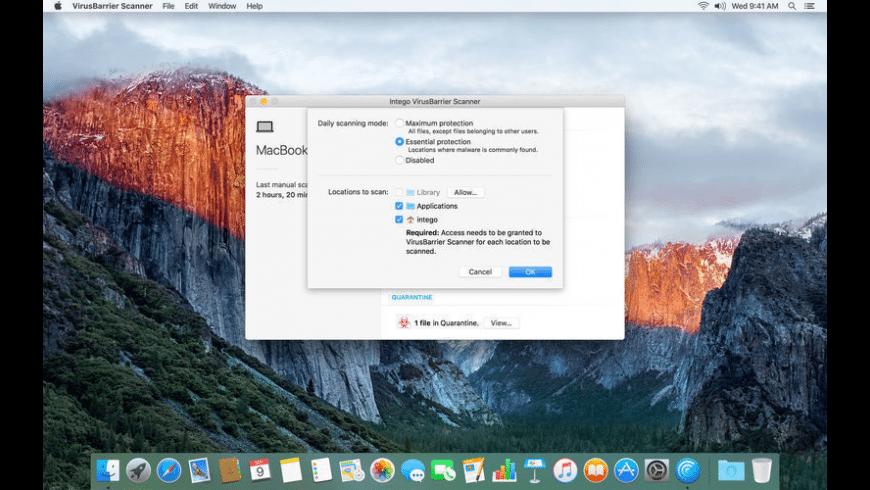VirusBarrier Scanner for Mac - review, screenshots
