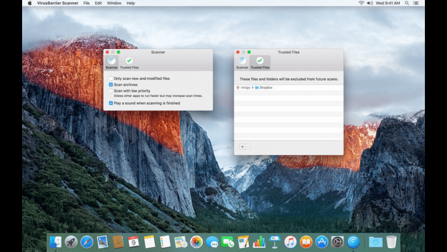 VirusBarrier Scanner for Mac - review, screenshots