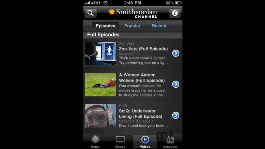 Smithsonian Channel for Mac - review, screenshots
