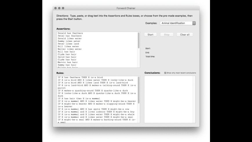 Forward Chainer for Mac - review, screenshots